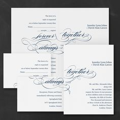 Blue and White Wedding Ideas - Promises - Sep 'n Send - White > Wedding Invitations | Occasions In Print, LLC | Invitation Link - http://occasionsinprint.carlsoncraft.com/Wedding/Wedding-Invitations/3159-VZ5162WH-Promises--Sep-n-Send--White.pro