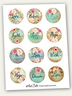 Diy Crafts For Kids, Crafts To Sell, Resin Crafts, Paper Crafts, Printable Images, Love Wishes, Love Dream, Bottle Cap Images, Collage Sheet