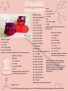 PARANOYAK SATIRLAR: Amigurumi Owl Pattern / Ücretsiz Amigurumi Baykuş Tarifi