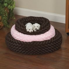@Overstock - Let pets snuggle in for sweet dreams with the Swirl Plush Donut Dog Bed. This cozy dog bed has bolster sides and a skid-resistant bottom.http://www.overstock.com/Pet-Supplies/Slumber-Pet-Chocolate-Brown-or-Pink-Swirl-Plush-Donut-Bed/7501878/product.html?CID=214117 $32.99