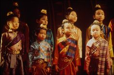 The Royal Children on the King and I on Broadway in 1996