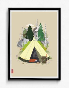 Image of Tent Series – Woodland, A3