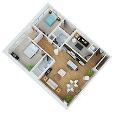 Gardner - 2 Bedroom + Den