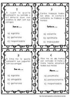 Character Traits (SPANISH Rasgos del Personaje) Recurso