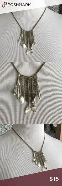 Nwot silver dainty necklace New without tags's beautiful lightweight simple very delicate strands hanging down adjustable length for the proper fit Monet Jewelry Necklaces