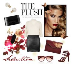 """""""Red Beauty"""" by laurenleigh-bee on Polyvore featuring Charlotte Tilbury, River Island, Miss Selfridge, Jaeger, Rebecca Minkoff, arbū and Oliver Peoples"""