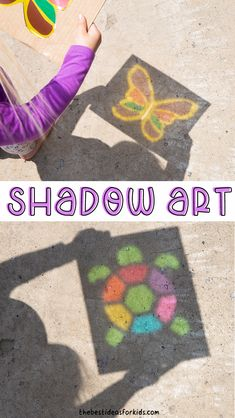 Crafts For Kids To Make, Crafts For Girls, Easy Diy Crafts, Art For Kids, Art Activities For Kids, Shadow Art, Creative Kids, Toddler Crafts, Fun Projects