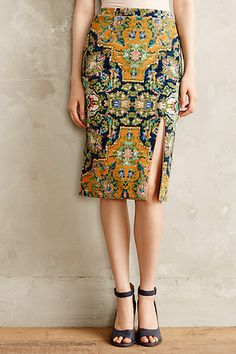 Tapestry Pencil Skirt - anthropologie.com