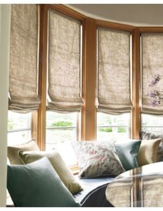Smith + Noble Relaxed Roman Fabric Shades in Linen Perfection/ Natural 20443
