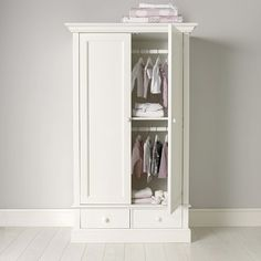 Buy Classic Small Wardrobe - from The White Company White Wardrobe, Small Wardrobe, Kids Wardrobe, Bedroom Wardrobe, Wardrobe Design, Built In Wardrobe, Armoire Wardrobe, Wardrobe Storage, Large Wardrobes