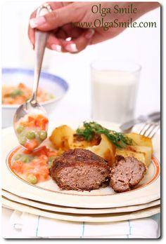 Kotlety mielone z cebulą Sugar Free, Gluten, Beef, Recipes, Poland, Food, Meat, Essen, Eten