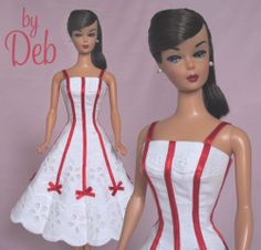 Bell  Bows- Vintage Barbie Reproduction Repro Barbie Doll Dress Clothes  Love this one