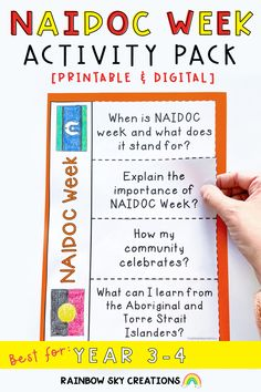This pack is designed to encourage students to think about the message of NAIDOC Week and to recognise the contributions of First Nations Australians to our country. Included are 14 activities suitable for students in year 3 and year 4.