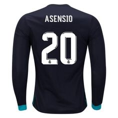 8da47dcbb adidas Marco Asensio Real Madrid Long Sleeve Home Jersey 17 18 ...