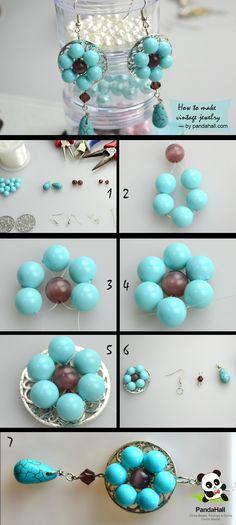 vintage jewelry making process, like flowers
