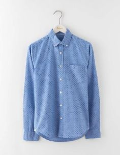 Boden Slim Fit Oxford Shirt Blue Spot Men Boden, Blue Embrace laid-back cool with our slim-fit shirt. Its supersoft fabric and flattering cut give it a polished finish, while its shorter length means theres no need to tuck it in. And thats not all - roll http://www.MightGet.com/january-2017-13/boden-slim-fit-oxford-shirt-blue-spot-men-boden-blue.asp