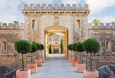 Cap Rocat, Mallorca, Spain - military fortress that has been completely renovated into a boutique hotel! The adults-only getaway sits on a private headland, overlooking Mallorca's Bay of Palma. Menorca, Ibiza, Small Luxury Hotels, Luxury Travel, Places In Spain, Places To Go, Dubrovnik, Yoga Hotel, Hotel Mallorca