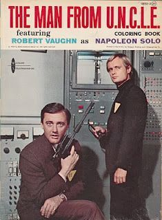 coloring book: The Man From U. Loved this TV show! Robert Vaughn was my favorite! Spy Shows, 60s Tv Shows, Great Tv Shows, Robert Vaughn, Nostalgia, Top Agents, Codename U.n.c.l.e, Man From Uncle Tv, Anos 60