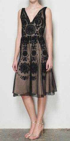 black lace dress- so chic