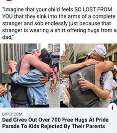 Fitness Workouts, Be My Hero, Positive Memes, Lgbt Memes, Guy, Lgbt Love, Faith In Humanity Restored, Pride Parade, Free Hugs