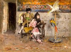 "Boldini Giovanni - Coppia In Abito Spagnolo Con Due Pappagalli (from <a href=""http://www.oldpainters.org/picture.php?/46142/category/15664""></a>)"