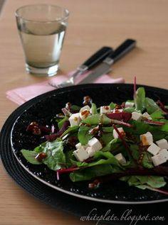 White Plate: Sałatka z buraczkami i kozim serem
