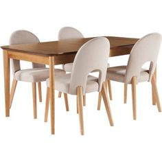 Hygena Emmett Extending Oak Dining Table 4 Stone Chairs At Homebase Be Inspired