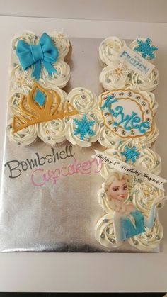 Frozen cupcakes pull apart cake