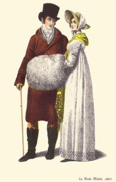 """Large Muff, was an accessory worn during the Empire Period c.1810-1820 """"Muffs, a popular accessory for women, and once for men, covered the hands, keeping them warm during the winter months as well as enhanced an ensemble."""""""
