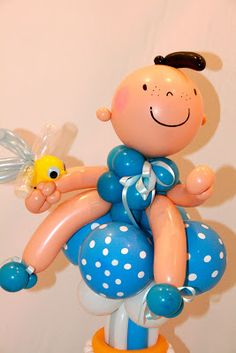 Celebrate the #RoyalBaby (or any baby) with a handmade balloon character! Design by Sue Bowler, CBA.