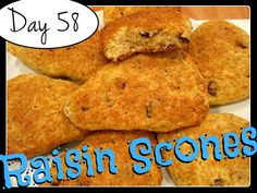 Laura's Raisin Scones [DAY 58] ★ watch the video: http://youtu.be/rMH971QcG9g ★  I'm trying A NEW RECIPE OF Laura in the Kitchen EVERY DAY and sharing its conversion into the metric system, come and join me on my yummy challenge! :)