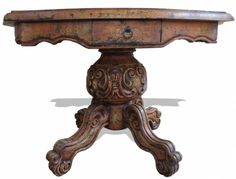 This Old World French Accent Table is very ornate in design and very antique and feminine in style. A piece such as this one can be used to bring a lighter or more formal mood to a room when placed by grounded furniture.