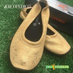 Złote czułenka Arcopedico poprawią nastrój nie tylko stopom ;) Character Shoes, Dance Shoes, Fashion, Dancing Shoes, Moda, Fashion Styles, Fashion Illustrations