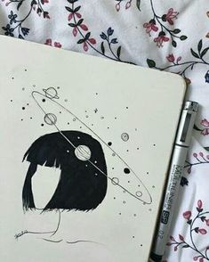 pencil drawings - Uploaded by ️️️× Find images and videos about art, drawing and girl on We Heart It the app to get lost in what you love Cute Drawings, Drawing Sketches, Pencil Drawings, Drawing Ideas, Easy Drawing Pictures, Drawings About Love, Drawings Of Girls, Heart Drawings, Galaxy Drawings