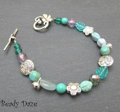 Wuthering Daze Czech glass bead bracelet- looks symmetrical then you realize its not! Beautiful