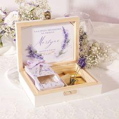 PREZENT dla Świadkowej w drewnianym pudełku zapach Kolekcja Lawenda Decorative Boxes, Frame, Picture Frame, Frames, Decorative Storage Boxes