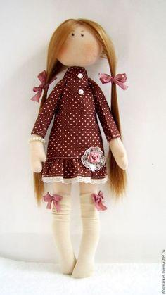 Fabric doll / Купить Иришка. Интерьерная куколка. - розовый, рыжеволосая, коллекционная кукла, текстильная кукла, подарок