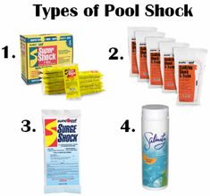 """When you """"shock the pool,"""" you are treating the pool with an extra-large dosage of chlorine that will disinfect water"""
