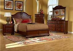 Shop for a Gallegos 5 Pc Queen Bedroom at Rooms To Go. Find Queen Bedroom Sets that will look great in your home and complement the rest of your furniture.