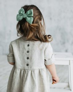 Handicraft Natural Kids Clothes and Bows by PepeLolo girl fashion fashion kids styles swag diva girl outfits girl clothing girls fashion Fashion Kids, Little Girl Fashion, Toddler Fashion, Toddler Outfits, Kids Outfits, Baby Girl Bows, Baby Boy, Baby Girls, Pinafore Dress