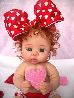 "❤OOAK VALENTINE  BABY GIRL ""SUGAR PIE""   BY: JONI INLOW* DOLLY-STREET❤"