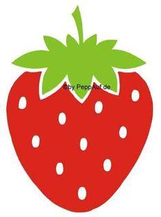 Erdbeere, Velours-Motiv zum Aufbügeln