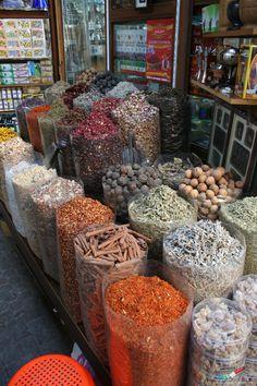 11 cool things to do in Dubai. You can almost see the aroma in this photo. The Spice Souk, UAE, Dubai Visit Dubai, Dubai Uae, Abu Dhabi, Voyage Dubai, Places To Travel, Places To Go, Dubai Travel, Dubai Trip, Sharjah