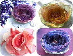 Как сделать цветок из ткани на платье своими руками?