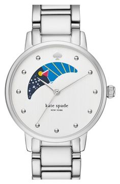 Main Image - kate spade new york 'gramercy' moon phase bracelet watch, 34mm