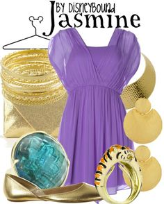 Disney Bound: Jasmine from Disney's Aladdin Disney Themed Outfits, Disney Bound Outfits, Princess Outfits, Disney Dresses, Disney Clothes, Princess Clothes, Disney Inspired Fashion, Disney Fashion, Estilo Disney