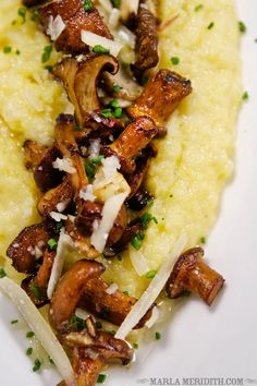 Creamy Polenta with Wild Mushrooms | Restaurant REV at Hotel Madeline | Telluride, CO.