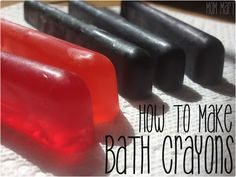How to Make Homemade Bath Crayons.Quick and easy to make. No staining and is an easy to clean up kid craft!