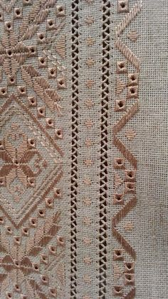 Tammy Jarosz's media content and analytics Hardanger Embroidery, Folk Embroidery, Learn Embroidery, Silk Ribbon Embroidery, Embroidery Fashion, Embroidery Stitches, Embroidery Patterns, Crochet Patterns, Drawn Thread