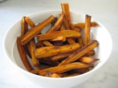 sweet-potato-fries @Anza Fullmer you need to try some different SPF recipes for your fry lover :)